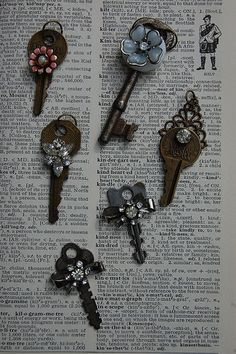 Vintage Key and Earring NEcklaces