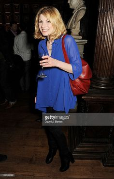Jodie Whittaker attends a party to celebrate Michael Attenborough's 11 years as Artistic Director of the Almeida Theatre at Middle Temple Hall on April 13, 2013 in London, England.