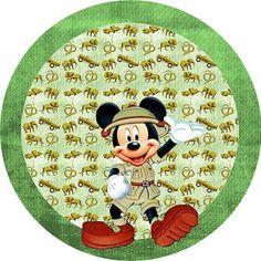 Mickey Safari - Kit Completo com molduras para convites, rótulos para guloseimas, lembrancinhas e imagens! - Fazendo a Minha Festa