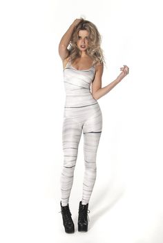 ummm I want someone to wear this for halloween - Mummy Catsuit
