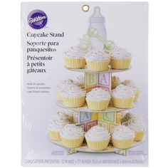 Wilton Baby Bottle Boy/Girl Cupcake€3-Tier Paper Cupcake Stand Holds 24 Cupcakes