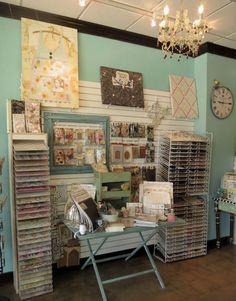 Paper Crown Scrapbook Store display