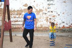Camisetas padres y niños divertidas.