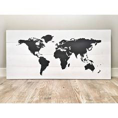 Rustic world map poster large map of the world turquoise map on huge large rustic wood world map rustic decor farmhouse decor rustic nursery decor wall decor wooden white world map wedding guest book gumiabroncs Choice Image