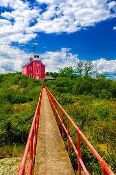Bridge to the Lighthouse, Marquette, Michigan