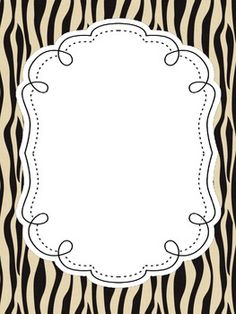 FREE Zoo Animal Print Jungle Safari Editable Class List