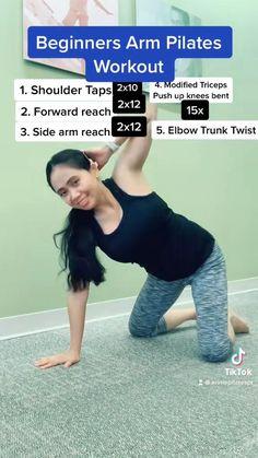 Pilates Workout Routine, Daily Exercise Routines, Gym Workout Videos, Flexibility Workout, Pilates For Beginners, Gym Workout For Beginners, Fitness Workout For Women, Body Fitness, Pilates Body