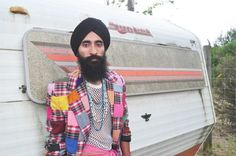 """""""Darling, a turban goes with everything."""" -Waris Ahluwalia (the """"37-year old Sikh most people outside of New York have come to know as 'the mysterious, bearded man with turban' from the Wes Anderson movies'"""")"""
