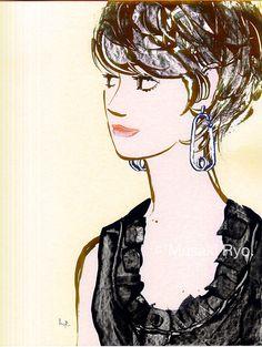 inspired by Balenciaga - Resort 2016 Collection | illustration by Masaki Ryo.