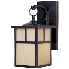 Craftsman Outdoor Hanging Wall Sconce by Maxim Lighting - these would look wonderful on either side of the garage with a matching one by the front door!
