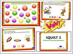 SQUILT 2 - A NEW SMARTBoard Music listening activity. Listening prompts, linked star-bursts, fun rewards, music theory hidden throughout...