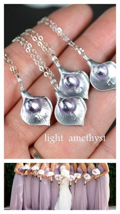 lavender purple necklaceBridesmaid gifts by thefabjewelrywedding, $29.99