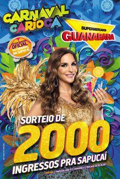 Participe do sorteio de 1000 kits com ingressos para carnaval do Rio de Janeiro. Veja como concorrer clicando na imagem