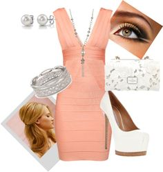 Summer wedding guest, created by kaymeans06 on Polyvore