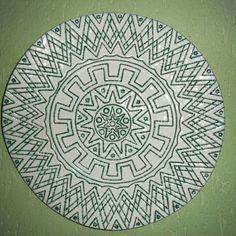 Cerâmica Decorativa - Prato Estilo Marajoara 50×50. Artes Rei