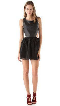 Sheri Bodell Leather Bodice Mini Dress    So obsessed! But they don't have it in my size :(