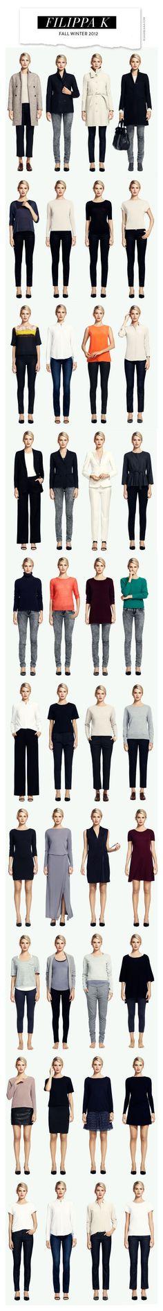 Plain & simple: basic 2-piece dressing - embellish for individuality. Fall-Winter 2012, by Filippa K. #wardrobebasicsforfall