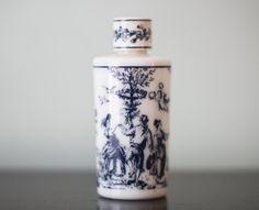 Vintage Nuit Lubin Toile Ceramic Perfume Bottle