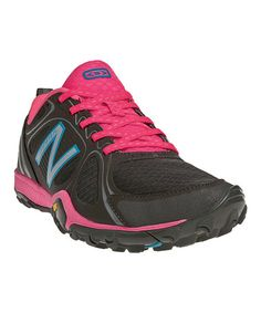 Take a look at this Black & Pink W080 Running Shoe - Women by New Balance on #zulily today!