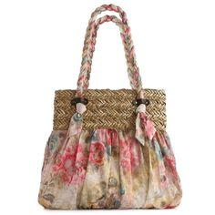 Poppie Jones Soft Handle Pastel Floral Shopper ($40) ❤ liked on Polyvore