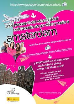 Quieres un viaje a #Amsterdam para dos personas?? Entra en http://www.facebook.com/voluntarizate y te contamos cómo!!!