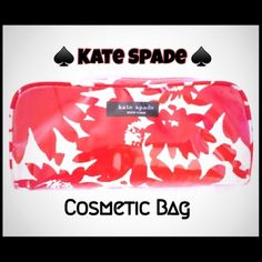 💯♠️Kate Spade Cosmetic Bag ♠️Kate Spade♠️Cosmetic Bag w/inside zip pocket. Great for cosmetics/brushes/pens & accessories! kate spade Bags Cosmetic Bags & Cases