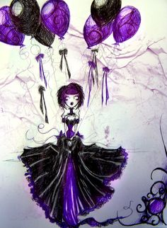 Purple Balloons by MissJamieBrown.deviantart.com on @deviantART