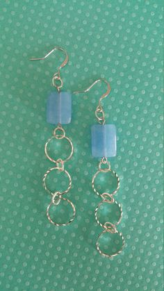 Hey, I found this really awesome Etsy listing at https://www.etsy.com/listing/247866299/blue-glass-bead-with-silver-chain
