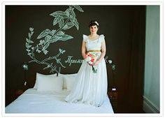 Vintage wedding dress from Etsy at The Ace Hotel, Portland OR 1930s Wedding, Diy Wedding, Graduation Table Centerpieces, Chalkboard Wall Art, 35th Wedding Anniversary, 100 Layer Cake, Newlyweds, Real Weddings, Wedding Inspiration