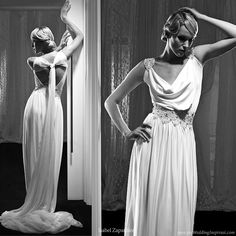 Isabel Zapardiez Wedding Dresses 2010 Greek Goddess - grecian draped wedding dress from Isabel Zapardiez Greek Style Wedding Dress, Grecian Wedding, Wedding Gowns, Wedding Rustic, Wedding Hair, Wedding Reception, Greek Dress, Grecian Dress, Draped Dress