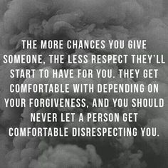 so true... it is important to set boundaries.