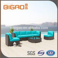 Bigao Muebles Venta Caliente El Último Producto Material Seccional Sofá de Jardín de Ratán Conjunto/Sofá Al Aire Libre Para la Fiesta Al Aire Libre