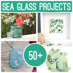 50 Plus DIY Sea Glass Crafts and Projects, there's plenty of sea glass to be found around here! :D