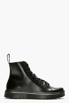 Fashion #kicks Stick It Wear?! recommends: Dr. Martens Black Smooth Leather 8-eye Mayer Boots for men | SSENSE