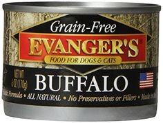 EVANGER'S 776260 24-Pack Grain Free 100-Percent Buffalo for Dogs and Cats, 6-Ounce ** You can find out more details at the link of the image.