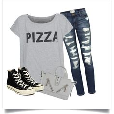 Outfit 001 by lerry-y on Polyvore featuring Current/Elliott, Converse and Kenzo
