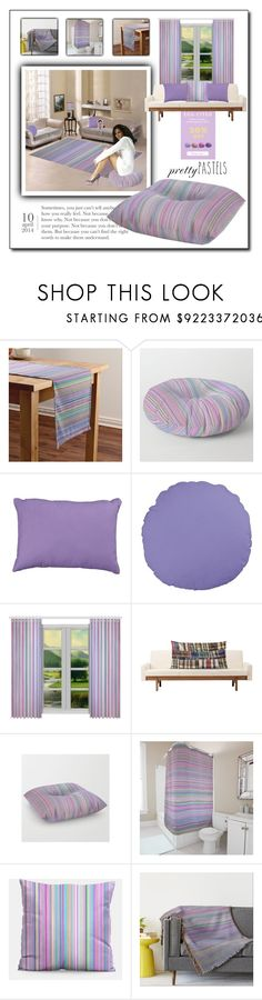 """""""Pastel Stripe Decor Available Through The Workshop"""" by wackyworkshop ❤ liked on Polyvore featuring interior, interiors, interior design, home, home decor, interior decorating and pasteldecor"""