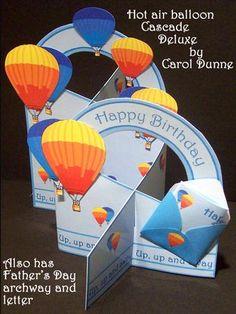 Hot air balloon cascade deluxe on Craftsuprint - View Now!