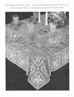 Table Cloths Crochet Pattern Book Round Pineapple by dianeh5091