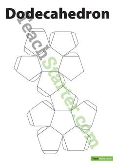 Dodecahedron 3D Net | Teach Starter - Teaching Resources