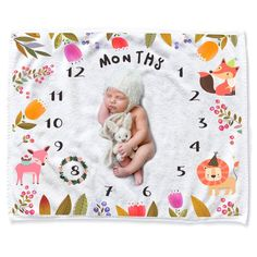 Baby Monthly Milestone Blanket Shower Gifts, CAVN Thick/Soft/Cozy Flannel Months Baby Milestone Blanket Photography Backdrop Photo Props for Newborn Boy and Girl: Baby Milestone Pictures, Baby Monthly Milestones, Baby Milestone Blanket, Newborn Gifts, Baby Month By Month, Photo Props, Baby Shower Gifts, Boy Or Girl, Backdrops