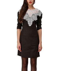 Love this Black & White Lace Bridget Dress on #zulily! #zulilyfinds