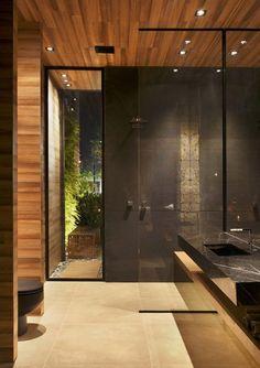 Interior design by S. Beautiful Bathrooms, Modern Bathroom, Small Bathroom, Bathroom Interior Design, Bathroom Styling, Bathroom Inspiration, Interior Design Inspiration, Modern Contemporary Homes, Bath Design