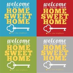 New Neighbor Tag Freebie! We live in a growing area and we have new neighbors moving in all the time! So I made these tags to put with. New Neighbor Gifts, Good Neighbor, Welcome New Neighbors, Nosy Neighbors, Welcome Baskets, Gift Baskets, Real Estate Gifts, Welcome Gifts, New Home Gifts