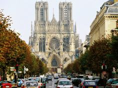 Reims Cathedral, Reims, Champagne-Ardenne, France
