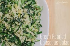 Recipe Box: Four Tasty Spring Salads {Green Pearled Couscous Salad}