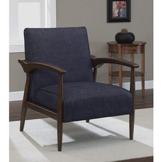 Gracie Retro Indigo Arm Chair | Overstock.com Shopping - Great Deals on Living Room Chairs