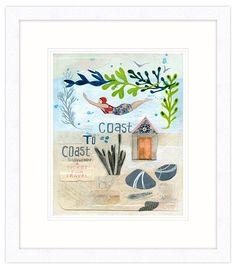 Coast to Coast Framed Print