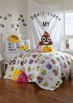 image of Full - Alien Emoji 3-Piece Comforter Set
