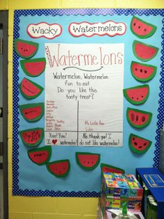 w for reading street, also activities of watermelon craft, snack, and writing letter w